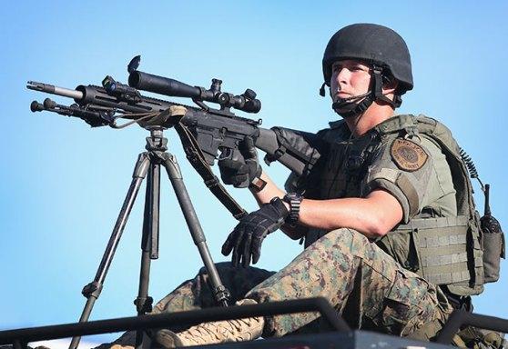 ferguson police gun